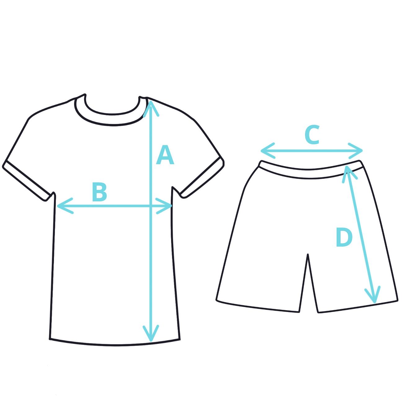 letdní dětské pyžamo rozměry